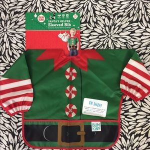 Bumkins long sleeves bib Santa's Helper NWT